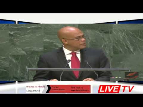 Haiti Politics :- UN Speech  President Michel Joseph Martelly 2014