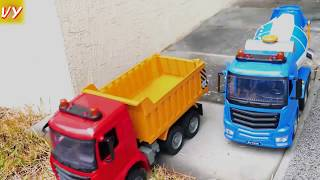 Car toys Construction Vehicles Looking for kids in the sand toy complication Nursery Rhymes songs