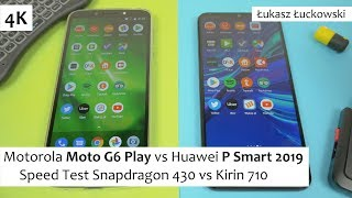 Motorola Moto G6 Play vs Huawei P Smart 2019  ❗❗❗ | Speed Test |  Snapdragon 430 vs Kirin 710