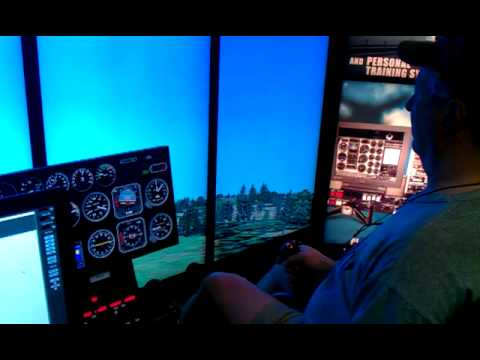 Sun N Fun 2013 helicopter flight simulator