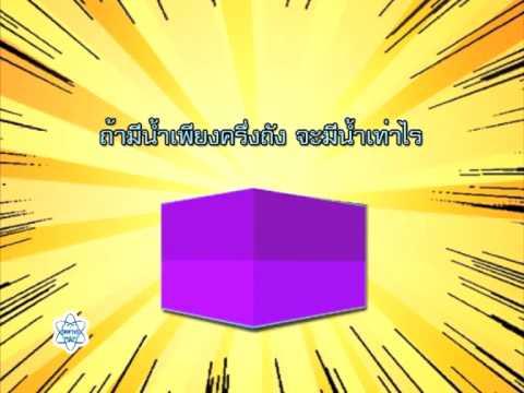รูปเรขาคณิตสามมิติและปริมาตรของทรงสี่เหลี่ยมมุมฉาก