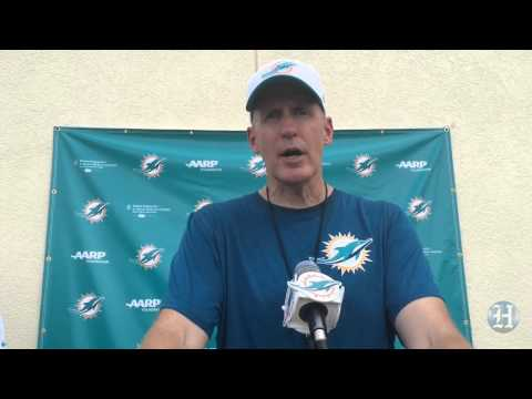 Miami Dolphins coach Joe Philbin addresses media on Day 5 of training camp