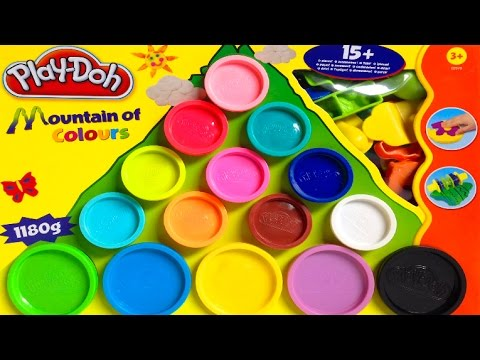 Play Doh Mountain of Colours Playset - Play w/ Shapes and Molds - Playdough Toy Review