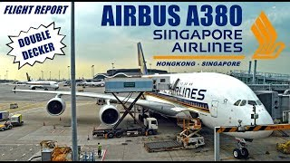 TRIP - THE BEST !!! Singapore Airlines A380 HKG-SIN Economy Class Service in Main Deck