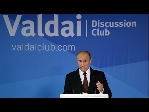 Putin at Valdai Discussion Club 2014 (FULL SPEECH)