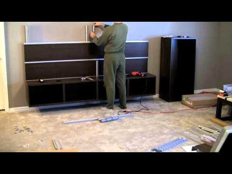 Ikea Besta/Framsta - Wall Mount Entertainment Center Assembly Part 3
