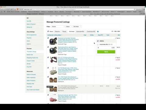 How to use Etsy's Promoted Listings Part 1