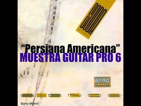 Persiana Americana Partitura Persiana Americana Muestra