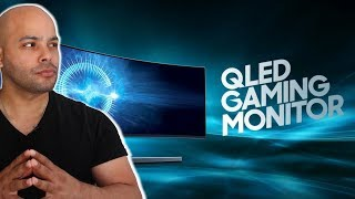 "HDR Samsung 49"" CHG90 Super Ultrawide QLED Gaming Monitor 