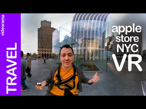 Apple Store Cube 10 anniversary NYC | VR 360