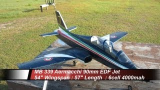 MB 339 Aermacchi 90mm EDF Jet - Maiden Issues Flight - 4-29-2012