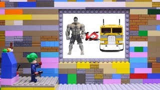 Transformers LEGO Cars experemental & Champions League, Iron Man, Hulk! truck Marvel Superheroes Toy