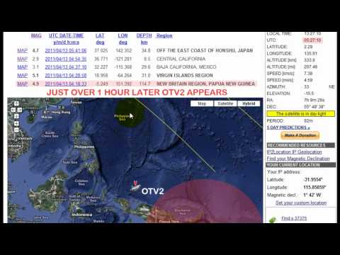 OTV 2 Spy Satellite, HAARP and Earthquakes