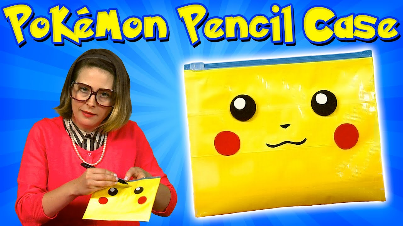 Pokemon DIY Pencil Case Back To School Crafts For Kids