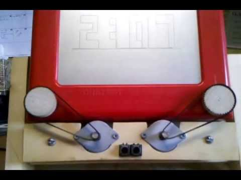 Etch a Sketch Clock