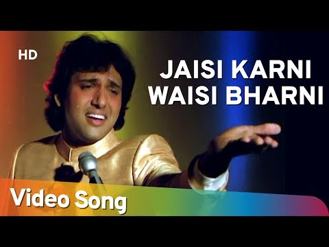 Jaisi Karni Waisi Bharni Title Song (hd) - Govinda - Kimi Katkar - Nitin Mukesh video