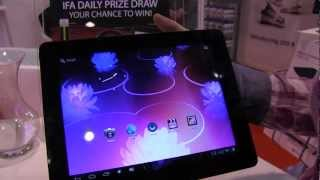 Maxell Maxtab H10 Dual Core Android Tablet Hands On - IFA 2012