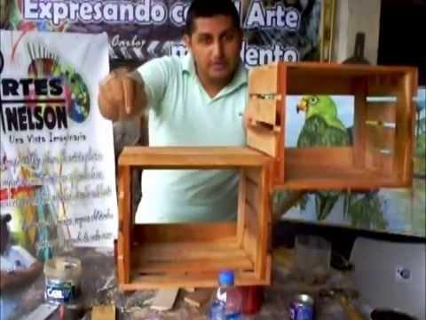Como hacer una repisa estanter a o armario con madera - Hacer estanteria casera ...