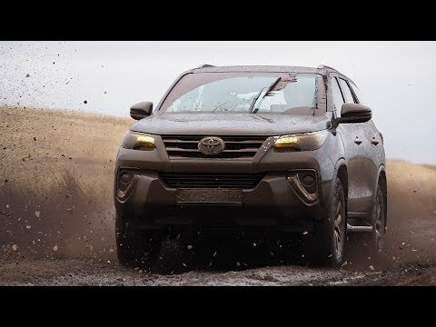 Внедорожный тестдрайв нового Toyota Fortuner ( Форчунер ) обзор,  test drive off-road.