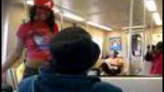editedATL Hoodrat aka SOULJA GIRL goes crazy on the Marta