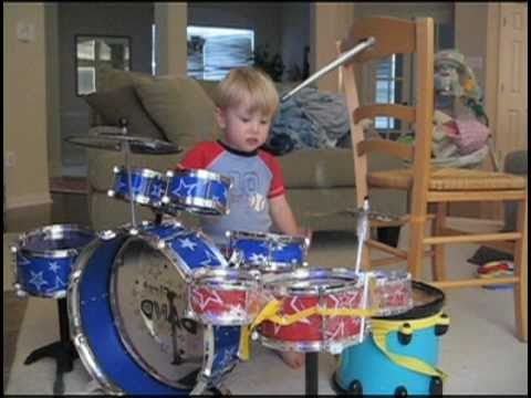 The Early Years of child drummer LOGAN ROBOT GLADDEN - from Age 1 through Kindergarten!!