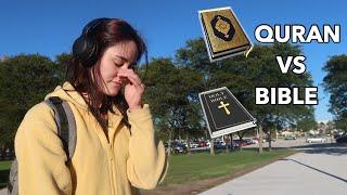 Non-Muslims Reacting To QURAN vs BIBLE (Social Experiment)