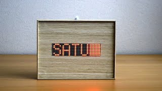Arduino 32x8 LED matrix info displaying date, time, temperature and humidity