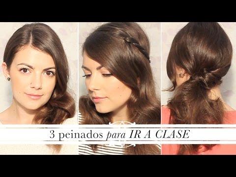 3 peinados fáciles y rápidos para ir a clase