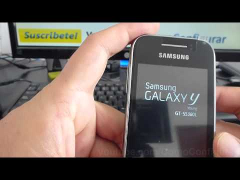 como insertar memoria micro sd samsung galaxy y gt s5360 español Video Full HD