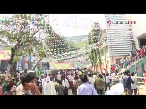 OUR LADY OF GUNADALA FEAST at OUR LADY OF GUNADALA SHRINE,VIJAYAWADA,AP,INDIA 11-02-2015 HD