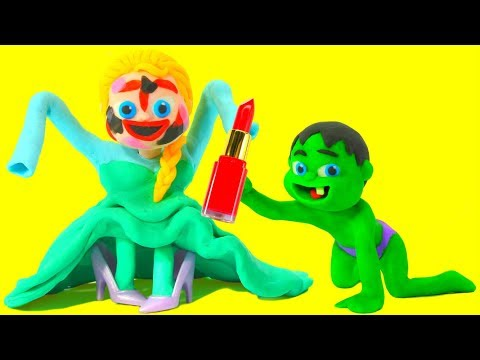 FUNNY KIDS PLAY WITH MAKEUP ❤  Play Doh Cartoons For Kids