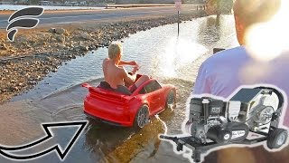 SURFING TOY CAR & SLED WITH MOTORIZED PULLEY!