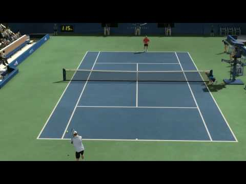Top Spin 3, Roddick vs Federer ,US Open. hard difficulty.pt.2. HD