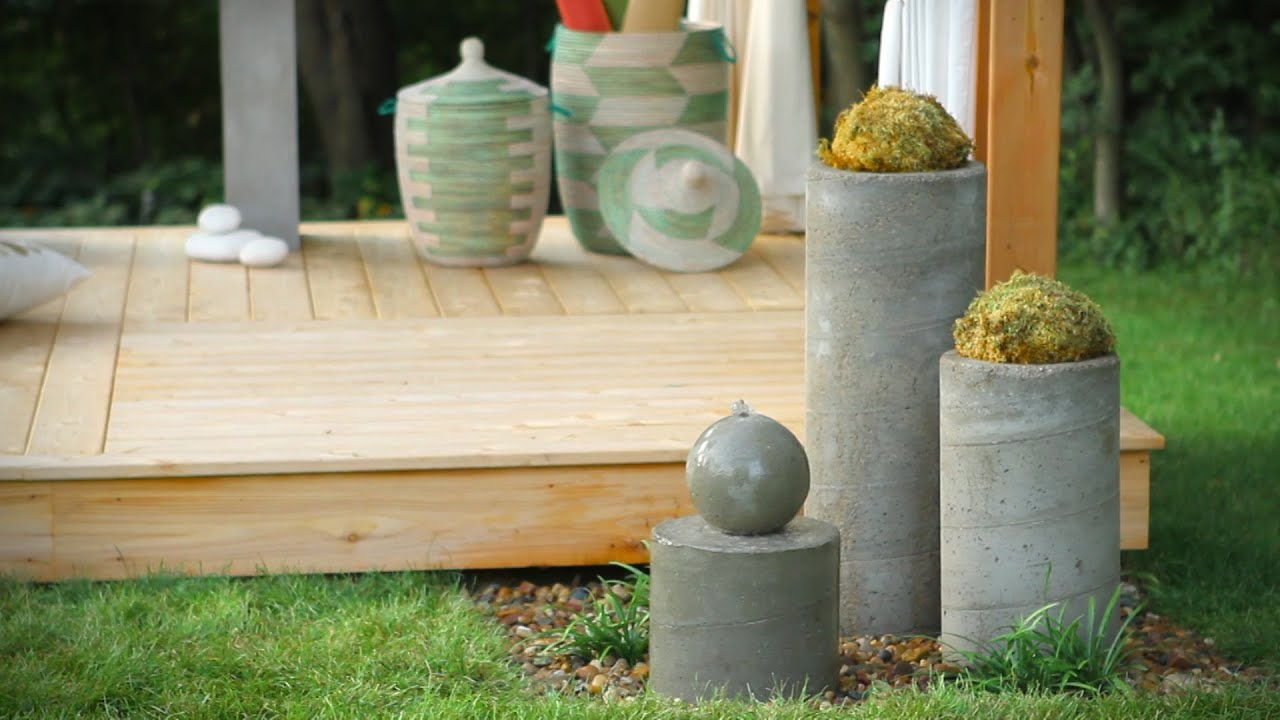 How to build an outdoor zen garden water fountain youtube for Do it yourself water features