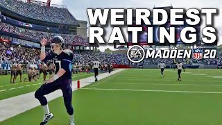 Madden '20 WEIRDEST Ratings: Who Has The Strangest Stats?