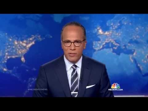 Lester Holt's First Newscast as Permanent Anchor