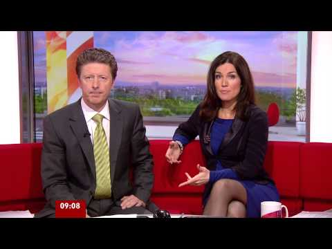Susanna Reid BBC breakfast 23rd Jan 2013 - sheer tights 1080p HD