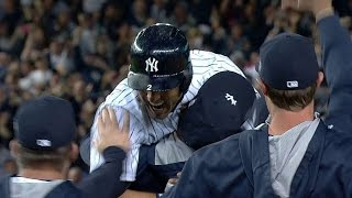 Jeter gets walk-off hit in final home game