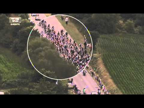 Alberto Contador Crash - 5th Stage Tour De France 2011