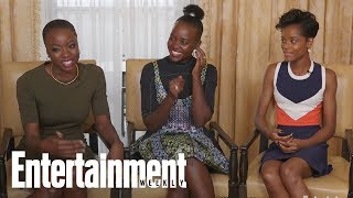 'Black Panther' Danai Gurira, Letitia Wright On Their Epic Rap Battles On Set  Entertainment Weekly