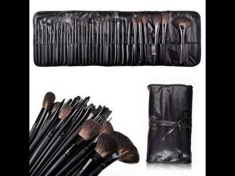 AMAZON.COM AMAZING 32 PEICE SET MAKEUP BRUSHES REVIEW!