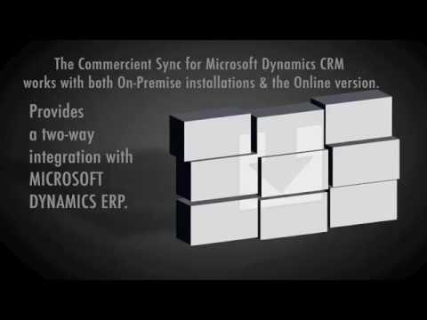 Commercient's Dynamics ERP (AX NAV GP SL) Integration w Dynamics CRM