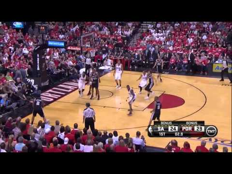 NBA, playoff 2014, Spurs vs. Trail Blazers, Round 2, Game 4, Move 14, Kawhi Leonard, airBall