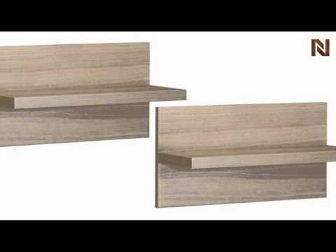 Nexera Infini T  Entertainment & Home Office Wall Shelves (2) 211113