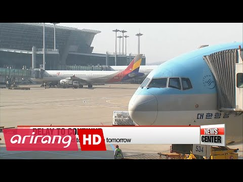 Flight delays from Incheon Int'l Airport expected to continue until tomorrow