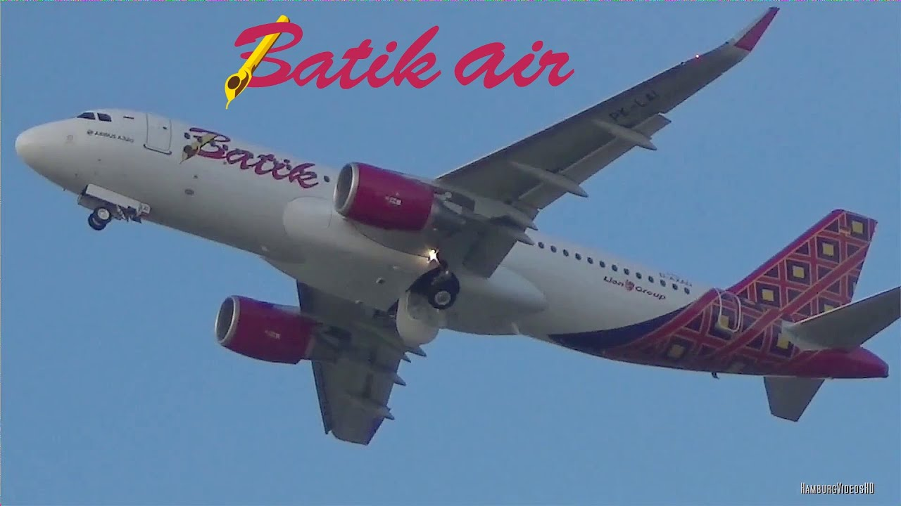 Batik Air Indonesia | Airbus A320 | Takeoff from Hamburg Finkenwerder ...