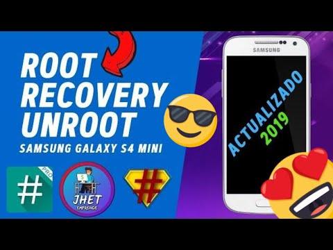 ROOT. UNROOT y Recovery: Cualquier Galaxy S4 mini (I9190. I9192. I9195. I9195L) Explicado/Español