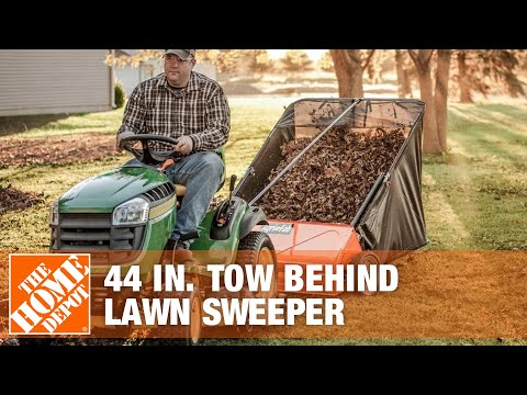 Agri-Fab 44 Inch Tow Behind Lawn Sweeper - The Home Depot