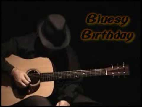 Happy Birthday Blues Style By Daril Parisi