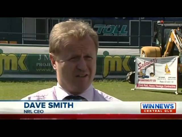NRL CEO Dave Smith visits central Queensland